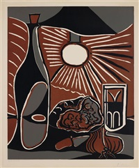 nature morte à la bouteille (still-life with bottle) by pablo picasso
