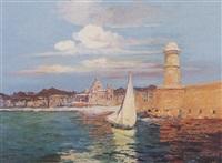 l'entrée du port de marseille by francois maurice reynaud