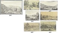 kremenchug (+ 7 other views in southern russia; 8 works, some smaller) by giacomo quarenghi
