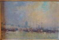 vue d'un port (+ venice; 2 works) by jean etienne karnec