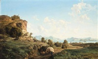 mountain landscape by ludwig franz karl bohnstedt