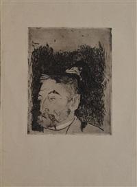portrait de stéphane mallarmé au corbeau by paul gauguin