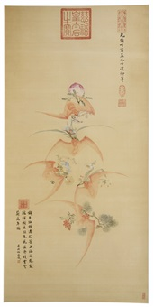 bats, peaches, flowers and lingzhi by empress dowager cixi