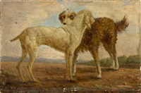 etude de chiens by jacques-laurent agasse