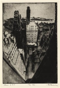 river street, nyc by gottlob briem