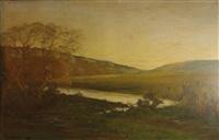 paysage boisé à la rivière by louis alexandre cabié