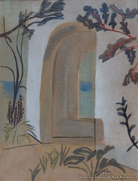mediterranean courtyard by frances mary hodgkins