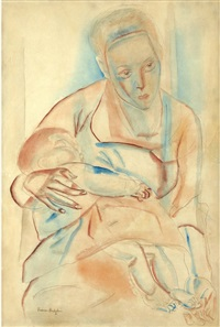 mother and child by frances mary hodgkins