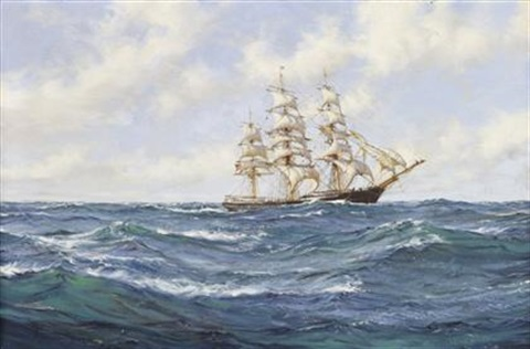 the charles b lunt 997 tons by montague dawson