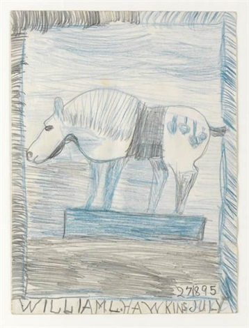 blue horse by william l. hawkins