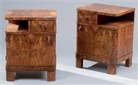 paire de table de chevets (pair) by jindrich halabala