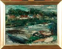 paysage à la rivière by paul maas