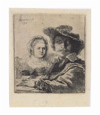 self portrait with saskia by rembrandt van rijn