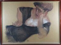 femme alanguie se tenant la tête by juarez machado