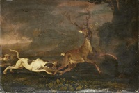 a stag hunt by abraham danielsz hondius