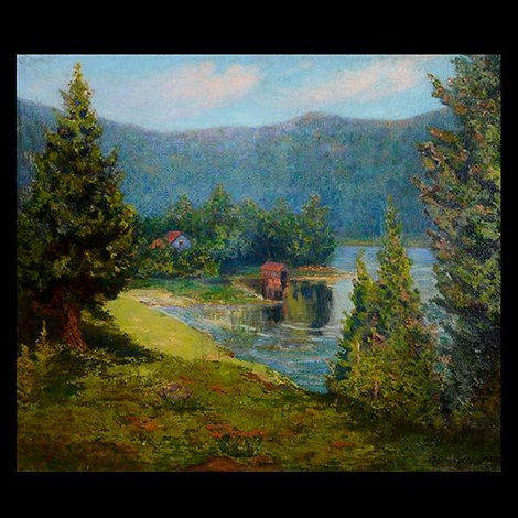 house on the lakes edge by george gardner symons