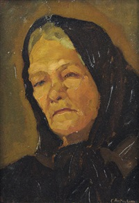 old woman portrait by constantin artachino