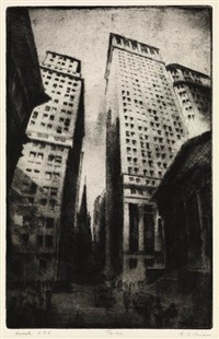 wall street, nyc by gottlob briem