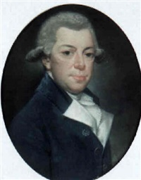 portrait of a man (count de rochefort?) wearing a velvet coat by jaques gabriel huquier