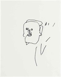 untitled (faces) by jean-michel basquiat
