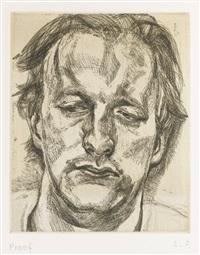 head of a man (h. 29) by lucian freud