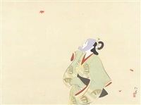 autumn leaf viewing by shoen uemura