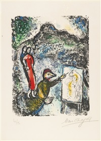 near st. jeannet by marc chagall