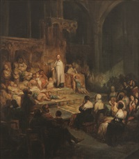 saint-vincent de paul devant un auditoire by nicaise de keyser
