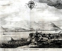 abbaye d'hautecombe (from theatrum statuum regiae celestudinis sabaudiae ducis) by johannes de broen