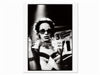 bea with a whip at the other side, signed by nan goldin