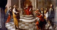 la disputa de jesús con los doctores en el templo by matías arteaga y alfaro