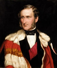 portrait of john, 13th lord elphinstone by james faed