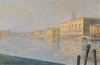 le palais ducal by claude monet