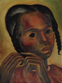 portrait of a girl by hale aspacio woodruff