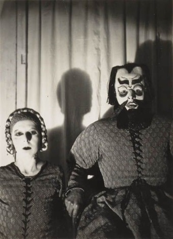 self portrait with roger roussot in barbe bleue by claude cahun