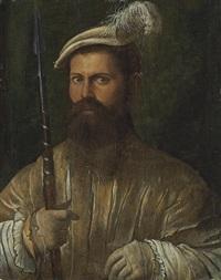 portrait of a halberdier by nicolo dell' abbate