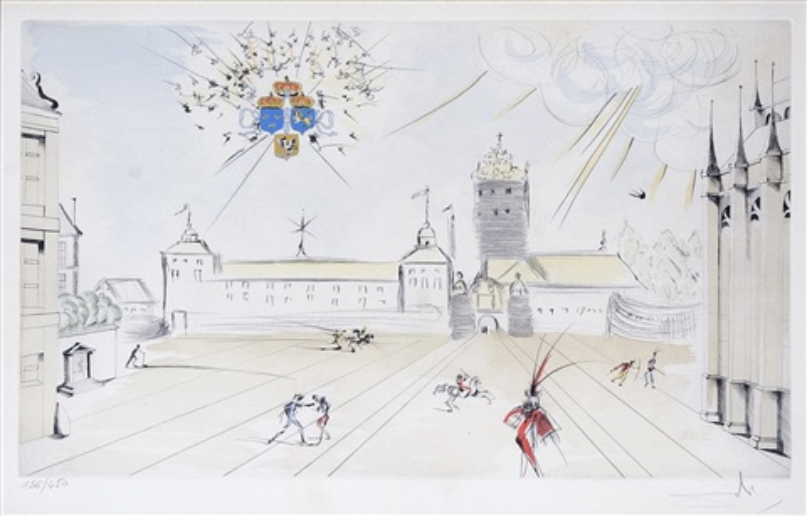 stockholms slott by salvador dalí