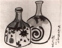 sake bottles by koka yamamura