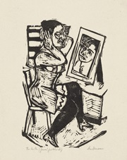 toilette by max beckmann