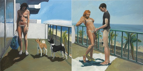 dog days diptych by eric fischl