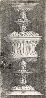 double-goblet with acanthus leaves by albrecht altdorfer
