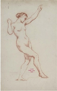 female nude by henri léopold lévy