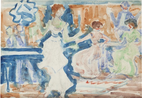 the terrace by maurice brazil prendergast
