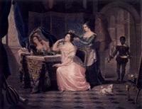 belinda en el tocador by jazet