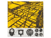 ideas on yellow ground by matt mullican
