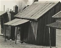 houses in negro quarter of tupelo, mississippi by walker evans