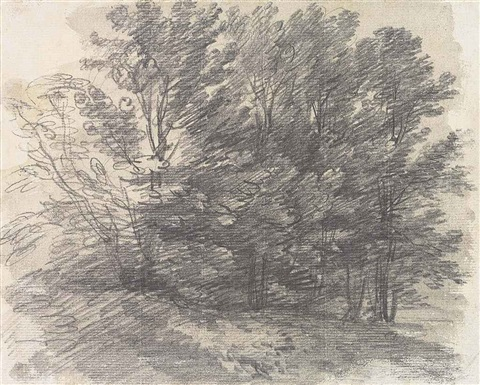 a clump of trees from a sketchbook by thomas gainsborough