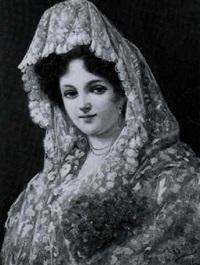 porträt einer spanierin in tracht by luis del aguila