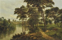view of the yarra at kew by henry c. gritten