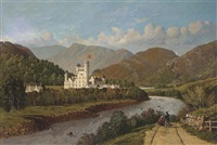 balmoral castle, from the banks of the river dee by pattie jack